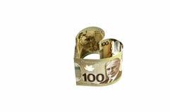 Billete de banco del dólar canadiense 100. Imagen de archivo libre de regalías
