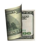Billete de banco del dólar del enrollamiento Foto de archivo libre de regalías