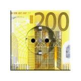 Billete de banco del euro 200 ilustración del vector