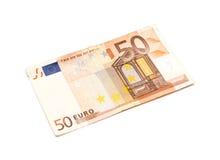 Billete de banco del euro 50 Fotos de archivo libres de regalías