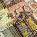 Billete de banco del euro 50 Fotografía de archivo libre de regalías