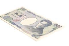 Billete de banco del japonés 1000 yenes Fotografía de archivo libre de regalías