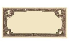 Billete de banco en blanco Imágenes de archivo libres de regalías