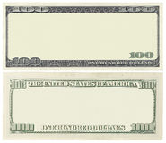 Billete de banco en blanco Fotografía de archivo