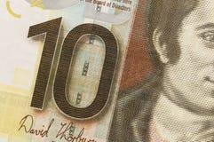 Billete de banco escocés, 10 libras Imágenes de archivo libres de regalías