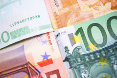 Billete de banco euro Fotografía de archivo