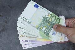 Billete de banco euro Imágenes de archivo libres de regalías