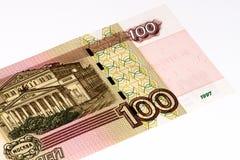 Billete de banco europeo del currancy, rublo rusa Imagen de archivo