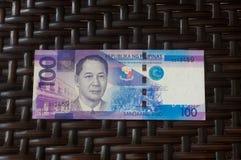 Billete de banco filipino Imágenes de archivo libres de regalías