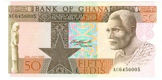 Billete de banco ghanés Fotos de archivo