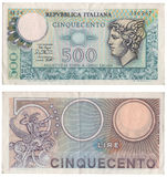 Billete de banco italiano antiguo Foto de archivo libre de regalías