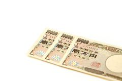 Billete de banco japonés 10000 yenes Foto de archivo libre de regalías