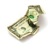 Billete de banco lamentable Fotografía de archivo libre de regalías