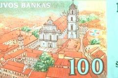 Billete de banco lituano del litu Imagenes de archivo