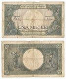 Billete de banco muy viejo Imagen de archivo libre de regalías