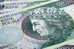 Billete de banco 100 PLN Foto de archivo