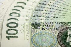 Billete de banco 100 PLN Fotografía de archivo