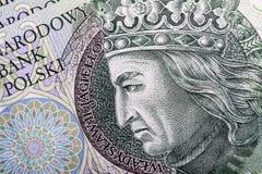 Billete de banco 100 PLN Imagenes de archivo