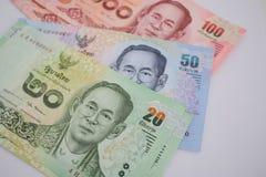 Billete de banco tailandés Imágenes de archivo libres de regalías