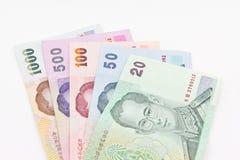 Billete de banco tailandés del dinero en circulación Fotografía de archivo libre de regalías
