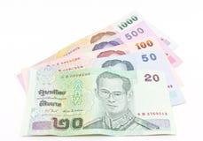 Billete de banco tailandés del dinero en circulación Imágenes de archivo libres de regalías