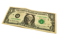 Billete de banco un dólar Foto de archivo libre de regalías