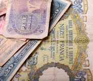 Billete de banco viejo de Albania, 5 leks Foto de archivo libre de regalías