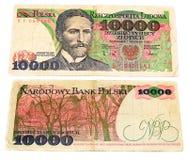Billete de banco viejo polaco Imagen de archivo libre de regalías