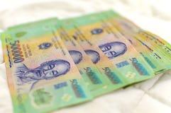 Billete de banco vietnamita de Dong del dinero 500.000 Imagen de archivo libre de regalías
