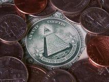 Billete de dólar imagen de archivo libre de regalías