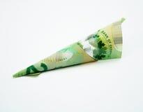 Billete de dólar de 20 canadienses Foto de archivo