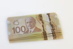Billete de dólar del canadiense 20 Foto de archivo libre de regalías