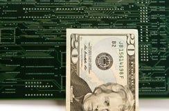 Dinero en circulación de Digitaces Imagen de archivo