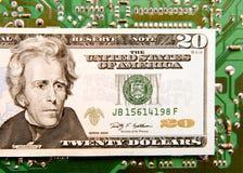 Dinero en circulación de Digitaces Fotografía de archivo