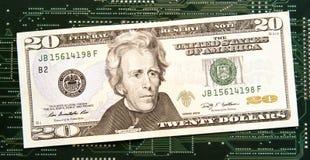 Dinero en circulación de Digitaces Fotos de archivo