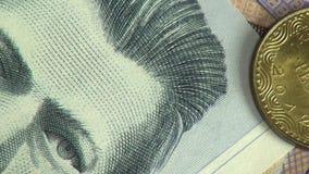 Billetes, cuentas, moneda, Colombia almacen de video