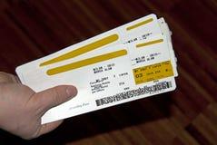 Billetes de avión Fotografía de archivo libre de regalías