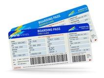 Billetes de avión Foto de archivo libre de regalías