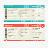Billetes de avión del vector Imágenes de archivo libres de regalías