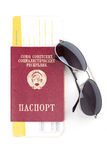 Billetes de avión y pasaporte del viaje Imagen de archivo libre de regalías