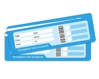 Billetes de avión en blanco Foto de archivo libre de regalías