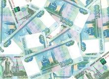 Billetes de banco 1000 rublos. Fotografía de archivo libre de regalías