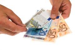 Billetes de banco aislados en blanco imagen de archivo libre de regalías