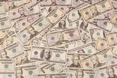Billetes de banco americanos imagenes de archivo