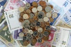 Billetes de banco búlgaros del dinero del lev Imagen de archivo libre de regalías