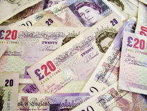 Billetes de banco británicos imagen de archivo