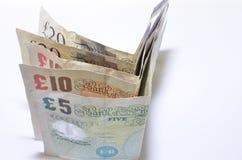 Billetes de banco británicos Fotos de archivo libres de regalías