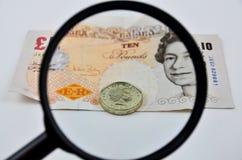 Billetes de banco británicos Foto de archivo