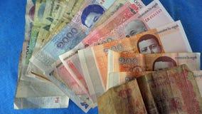 billetes de banco camboyanos Fotos de archivo
