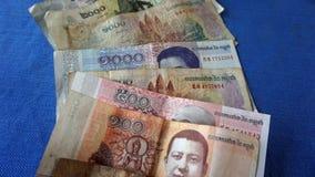 billetes de banco camboyanos Imagenes de archivo